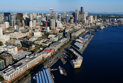 Seattle from an R44 Helicopter