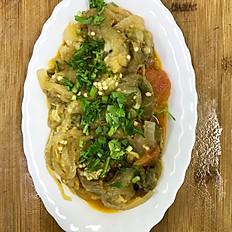 Шашлык из овощей, запеченный на углях