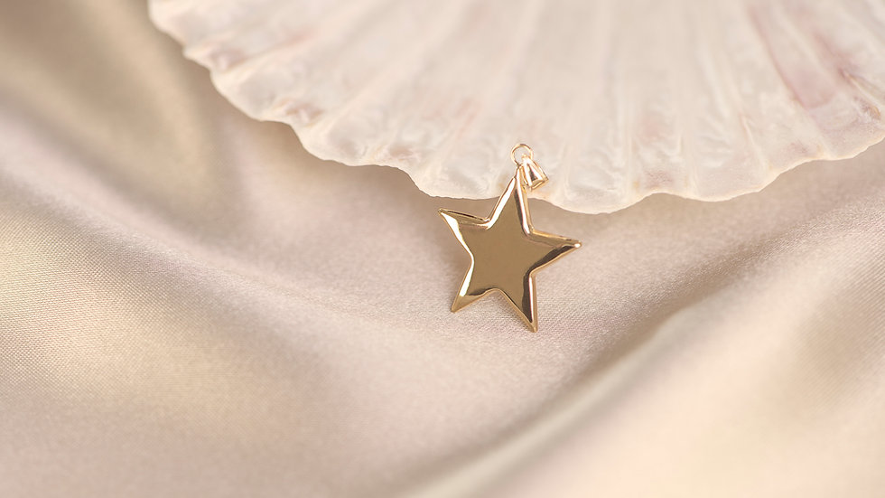 9ct Solid Gold Star Pendant