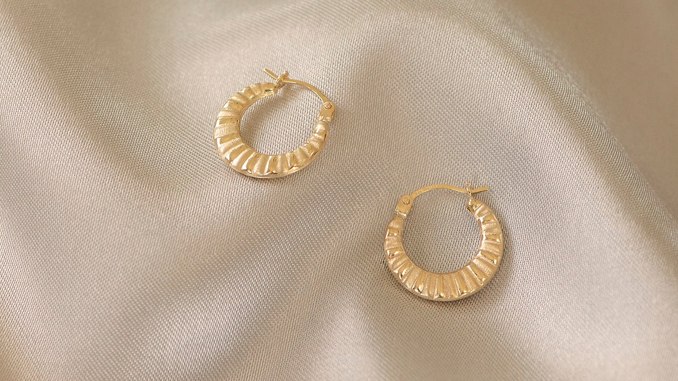 9ct Solid Gold Lucky Horseshoe Hoops