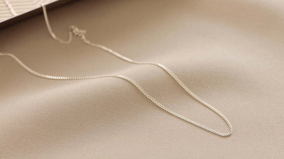 """Sterling Silver Curb Chain 16"""""""