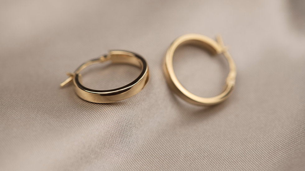 9ct Solid Gold Basic Hoops