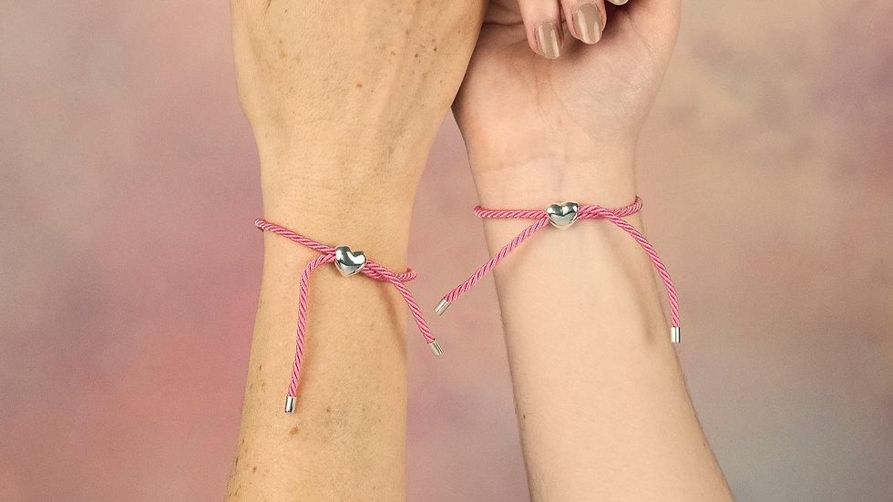 Sterling Silver Heart Friendship Bracelet