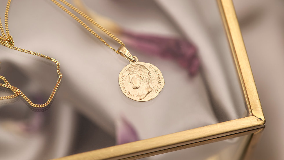 9ct Solid Gold Campania Coin Pendant