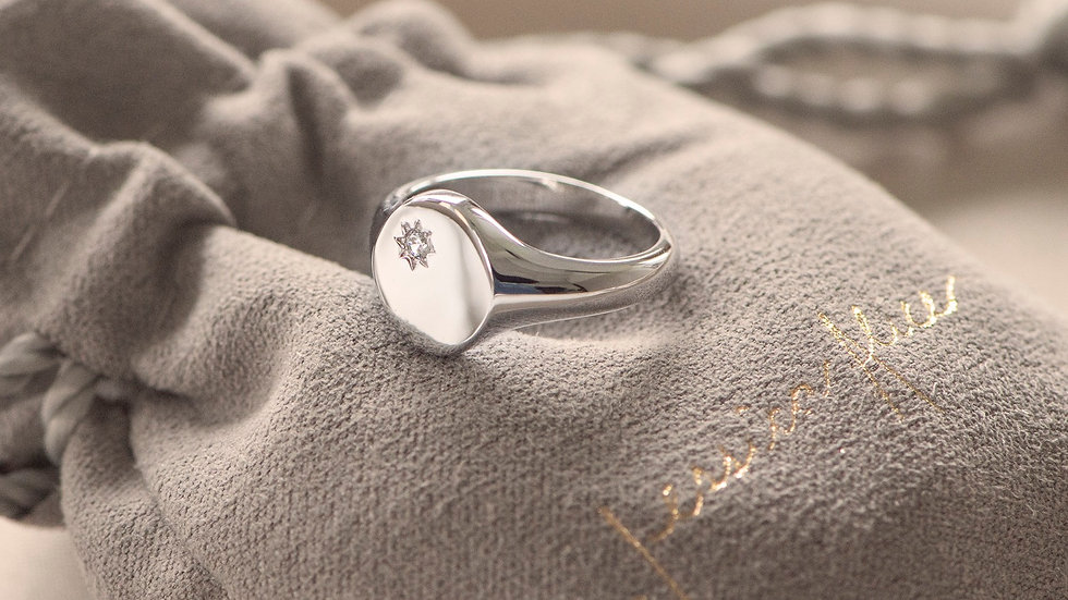 Sterling Silver Classic Signet Ring