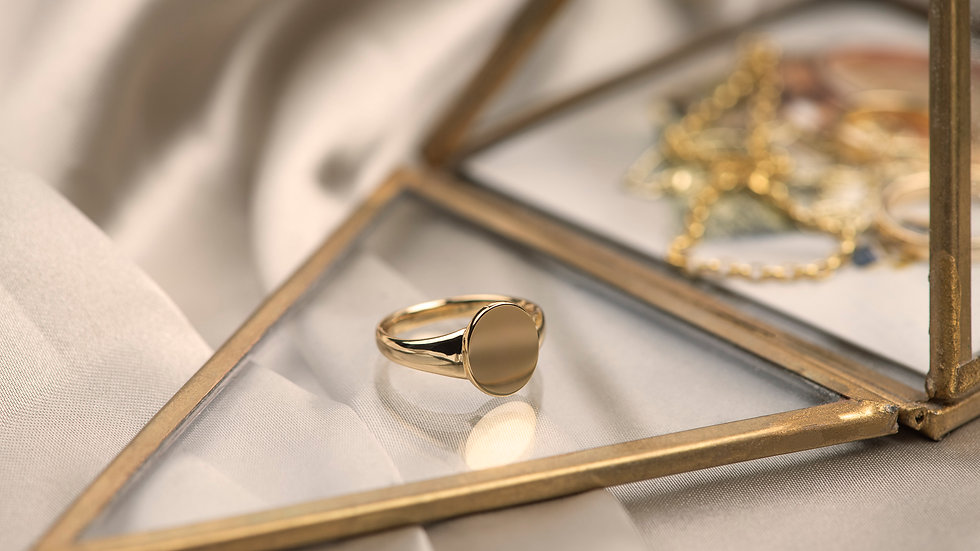 Gold Plated Classic Signet Ring