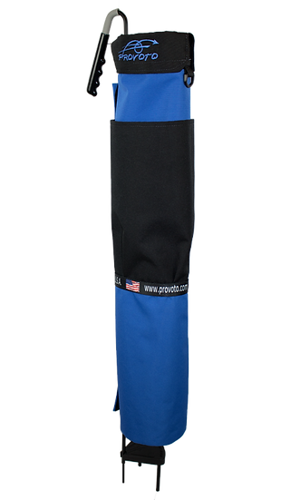 Royal Blue Bag - Black Pocket and Stand