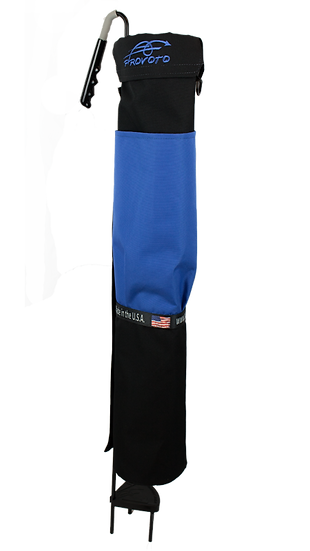 Black bag - Royal Blue Pocket + Options and Stand