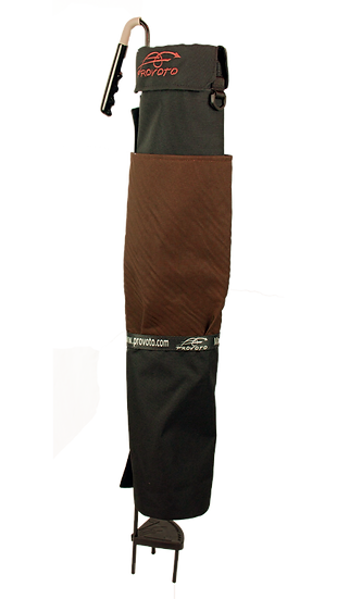 Black Bag - Chocolate Brown Pocket without  Stand