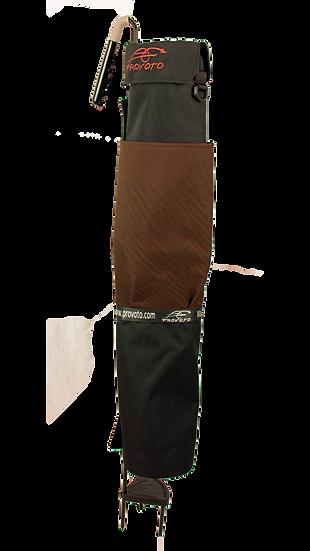 Black Bag – Chocolate Brown Pocket, Strap - Cup Holder Option