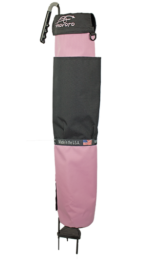 Just Pink Bag - Black Pocket + Options and Stand