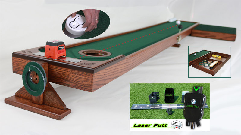 8' and 10' Auto Ball Return with Laser Putt