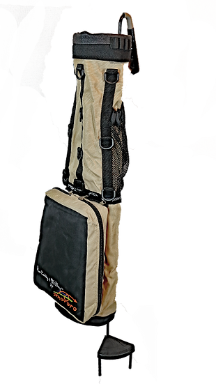 Tan Caddie Bag and Stand