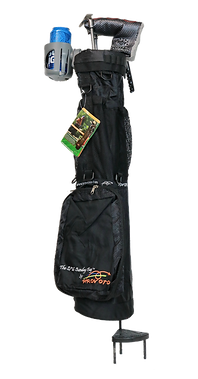 Black Caddie Bag, Stand and Cup holder