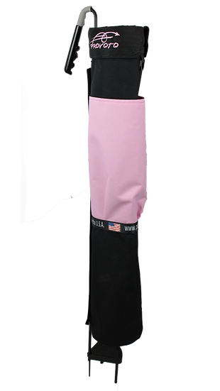 Black Bag with Just Pink Pocket without Stand