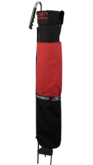 Black Bag - Red Pocket + Options and Stand