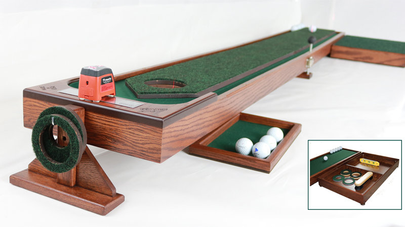 8' and 10' Ball Corral Putting System with Putting Pad and Travel Bag Set