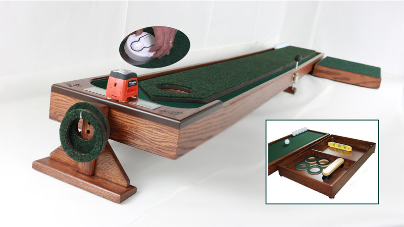 8' and 10' Auto Ball Return with Add-on Putting Pad and Travel Bag Set