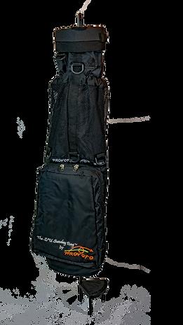 Black Caddie Bag and Stand