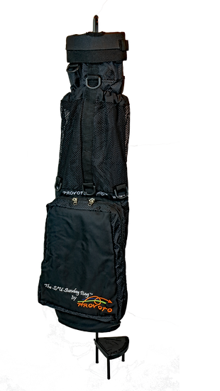 Black Caddie Bag and Stand