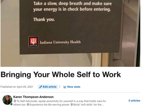 How to Bring Your Whole Self to Work