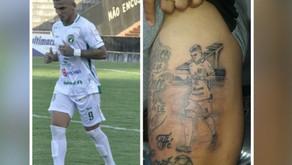 Jogador faz tatuagem eternizando passagem pelo Tapajós