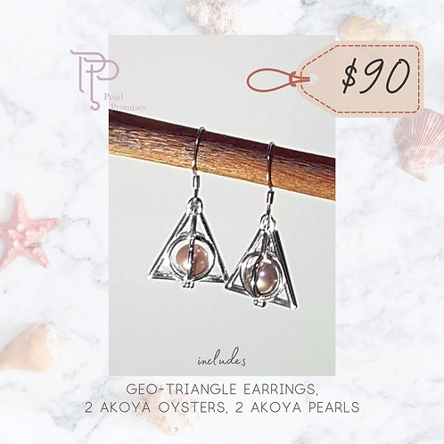 Geo-Triangle Earrings Set