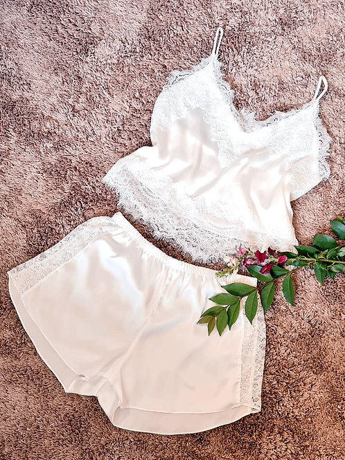 pijama off white
