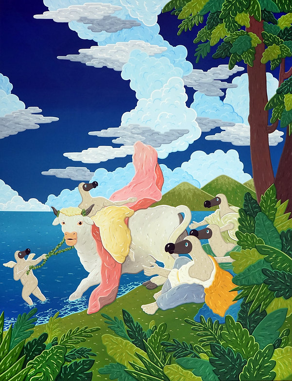 Abduction of Doropa, 145x112cm, gouache