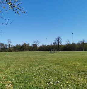 Herringe Stadion. En sportsplads under omdannelse. Rekreativt område med shelters, aktiviter og liv
