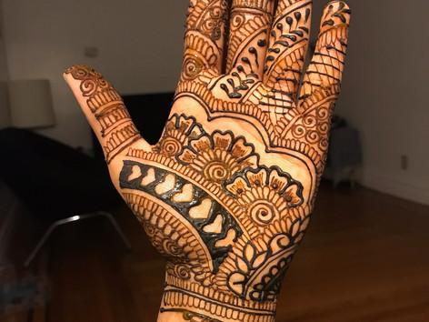 Minimal Bridal henna