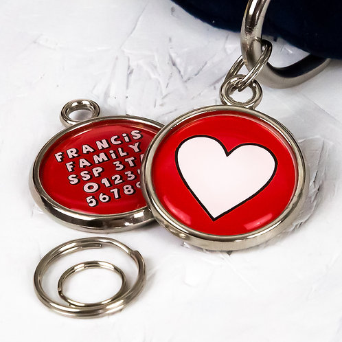 Personalised Dog Tag HEART