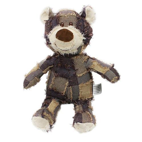 Patchwork Bear Dog Toy