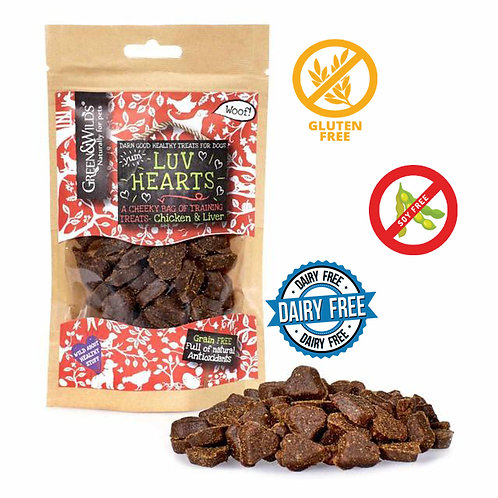 Green And wilds Luv Hearts 100G