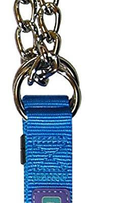 Dog &Co Half Check Collar Blue
