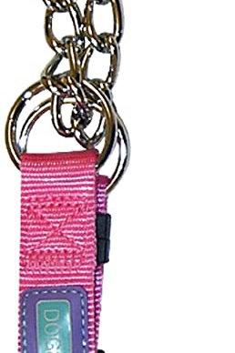 Dog & Co Half Check Collar Pink