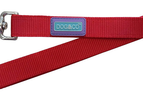 Dog & Co Padded Handle Lead Red