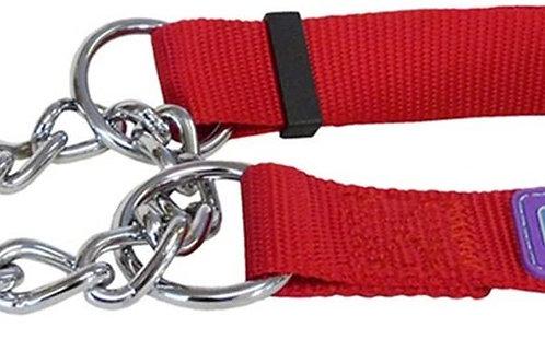 Dog & Co Half Check Collar Red