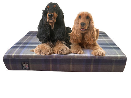 Check Memory Foam 6in Thick Bed - Choice of colours