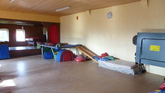 Schlafen im alten Tanzsaal