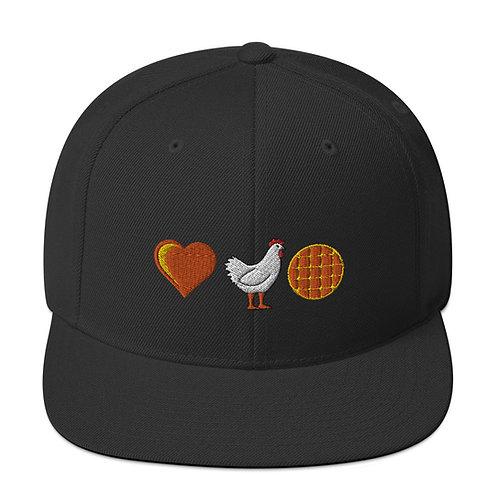 Love Chicken & Waffles Snapback Hat