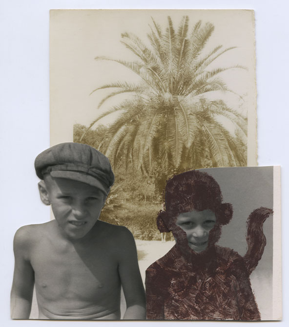 And here I'm six or maybe even seven. It's a common summer holiday photo on a beach against a prop palm tree with a toy monkey. It was taken in Crimea some twenty-five years before its Russian occupation.