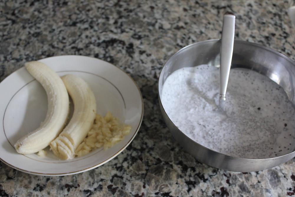 bananas and chia seeds