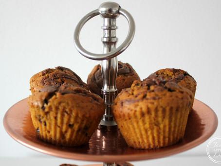 homemade pumpkin - chocolate chip muffins