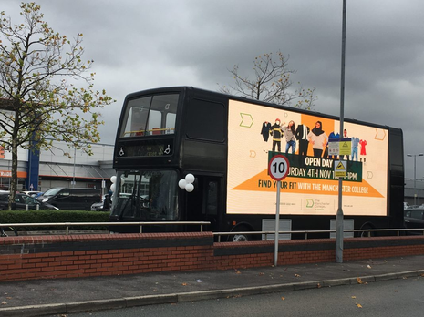 2019 - Manchester Signage Bus