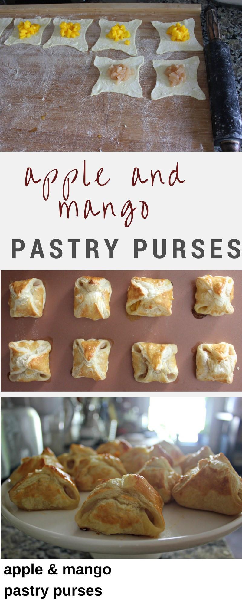 apple and mango pastry purses recipe
