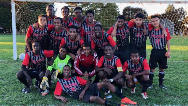 On this school team, soccer is the universal language