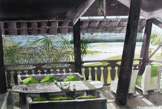 Bamboo Blinds and the Mekong,