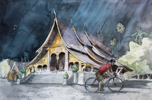 Rain at Wat Xieng Tong