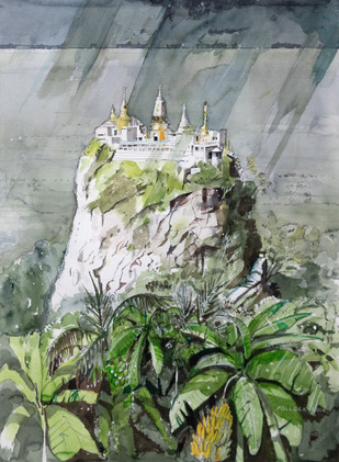 Mount Popa, Rain